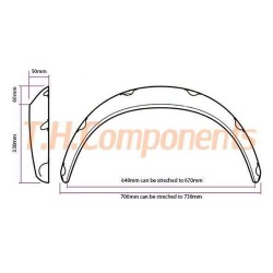 Universal Wheelarches +50mm wide (2 pcs)