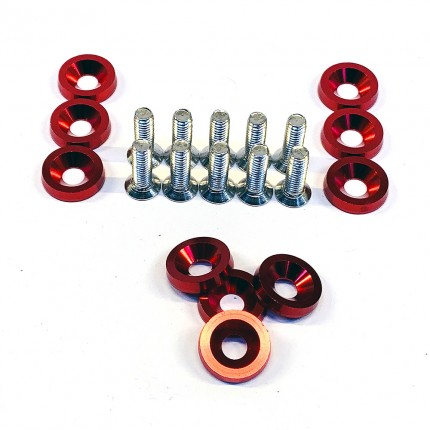aluminum cnc machined washers and bolts pack of 10