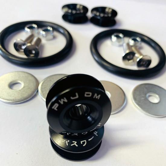Aluminum Quick Release Fasteners Kits BLACK