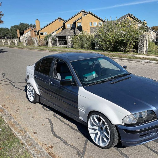 E46 BMW 4 Door Rear Quarter panels overfenders +50mm