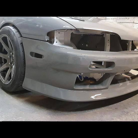 s14 zenki vertex style fibreglass front bumper