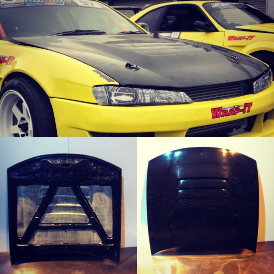 S14a silvia vented bonnet / hood (DMAX style)