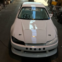 S15 silvia vented bonnet / hood outer skin