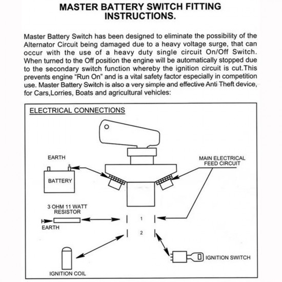MASTER Cut-Off Switch FIA approved
