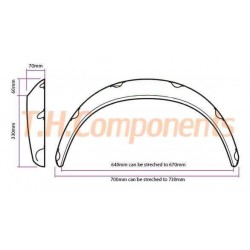 Universal wheelarches 70mm wide (2pcs)